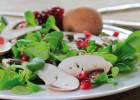 Feldsalat mit Champignons und Kartoffelvinaigrette